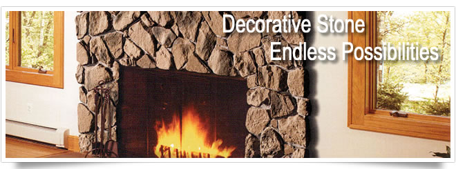 Decorative stone applications for home remodeling, renovations and new homes.